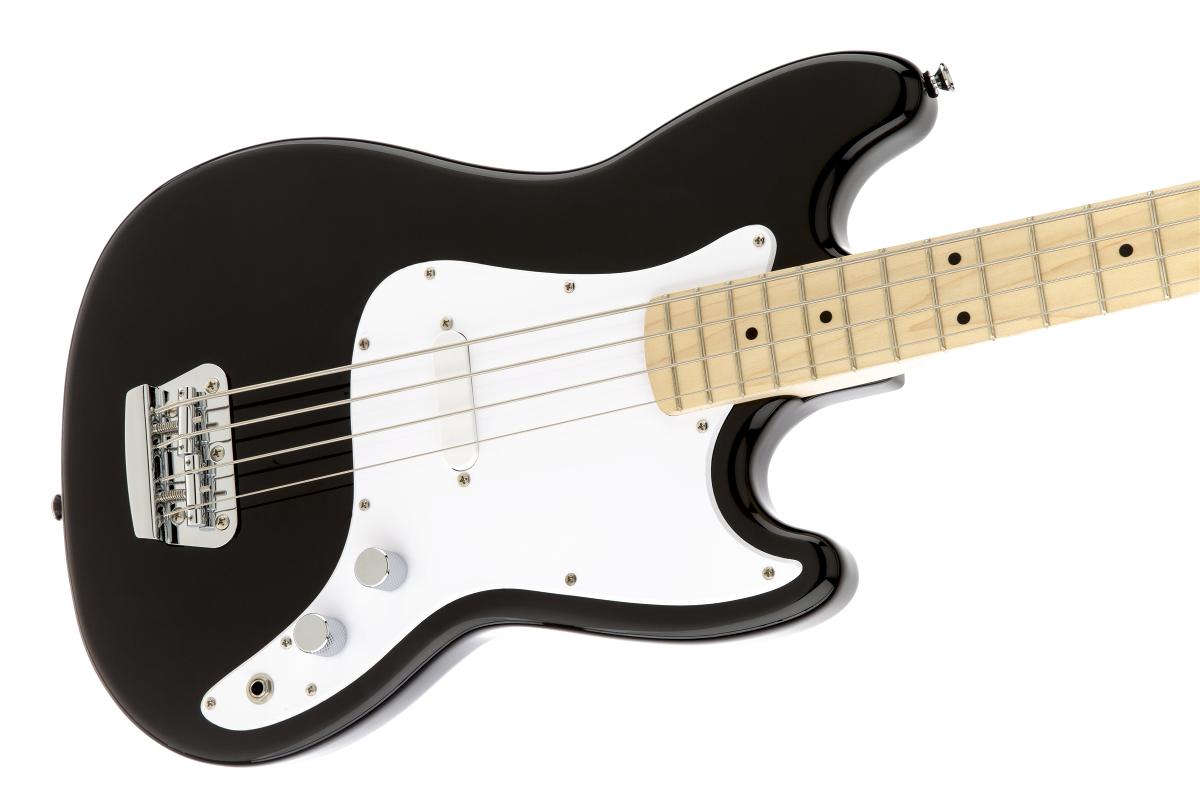 Squier® Bronco™ Bass, Maple Fingerboard, Black | Squier Bass Guitars