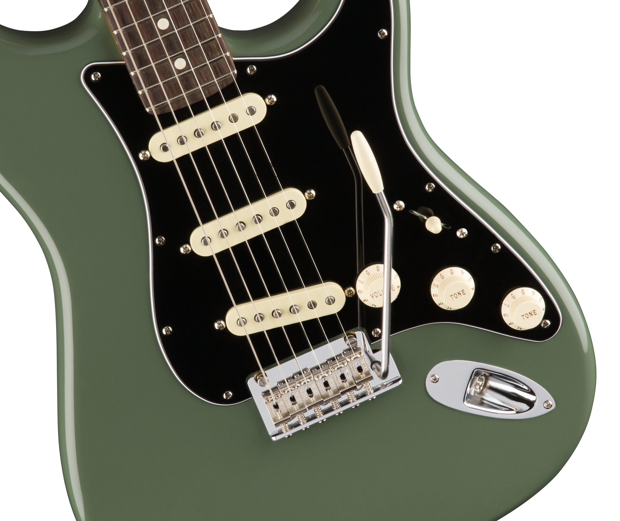 0113010776_gtr_frtbdydtl_001_nr fender american pro stratocaster�, rosewood fingerboard, antique olive Telecaster 3-Way Switch Wiring Diagram at crackthecode.co
