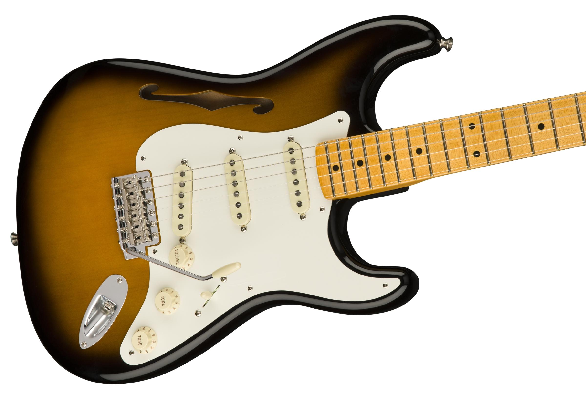 Fender Eric Johnson Thinline Stratocaster®, Maple Fingerboard, 2 ...