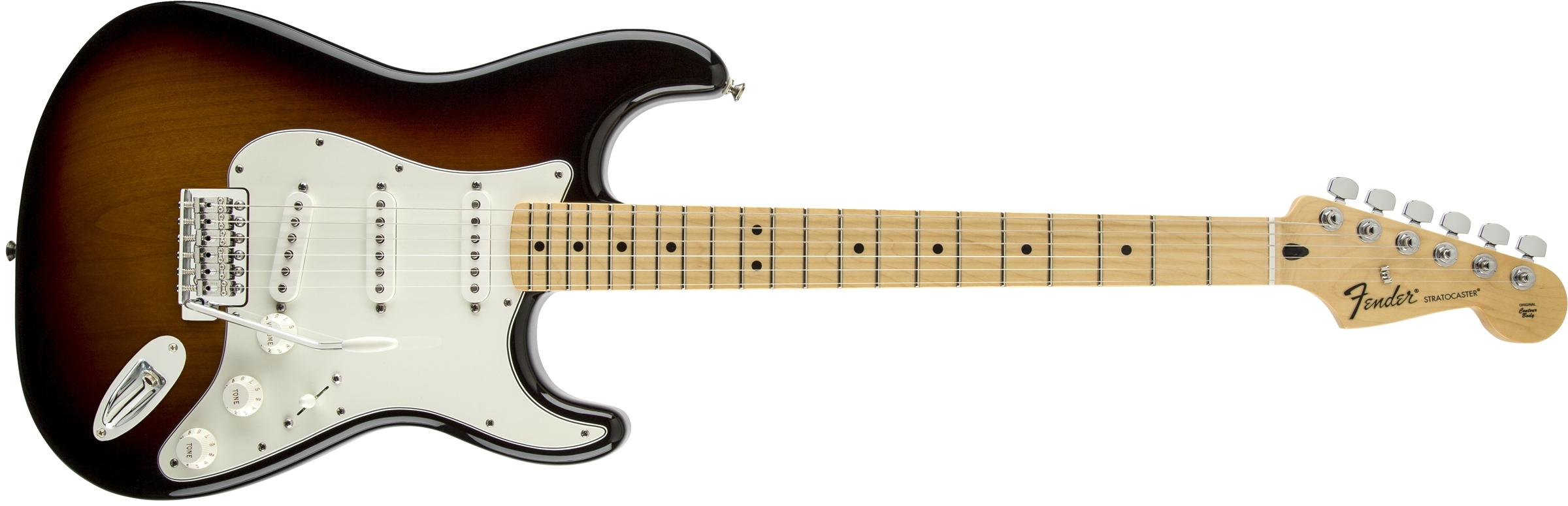 fender standard stratocaster maple fingerboard brown sunburst. Black Bedroom Furniture Sets. Home Design Ideas