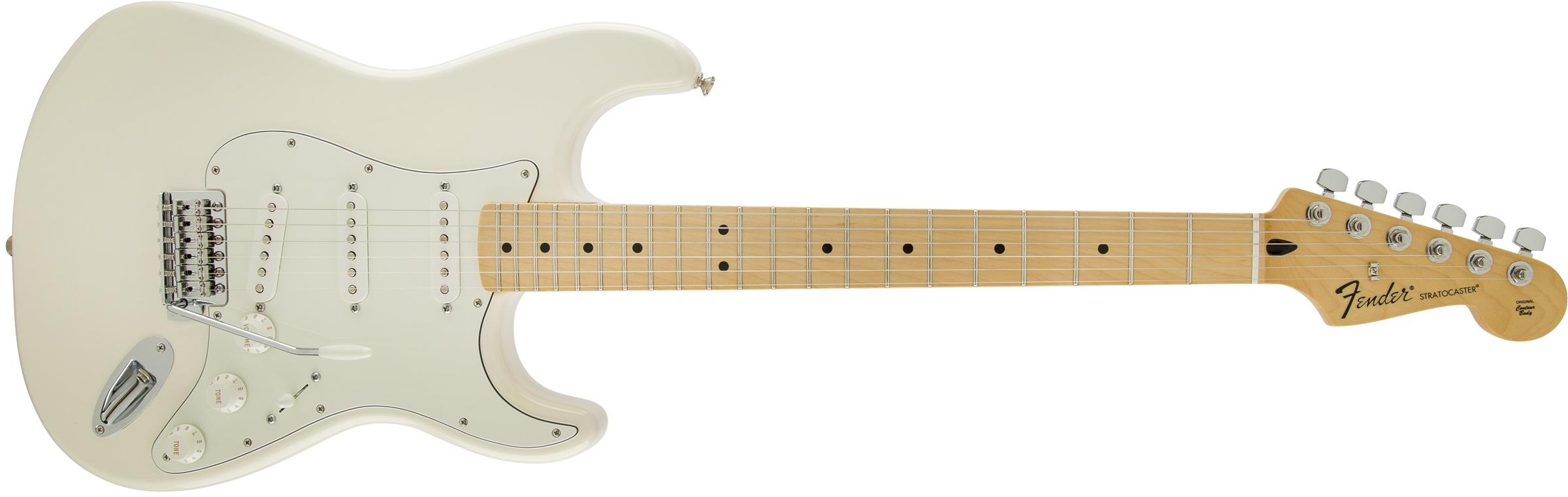 fender standard stratocaster maple fingerboard arctic white. Black Bedroom Furniture Sets. Home Design Ideas