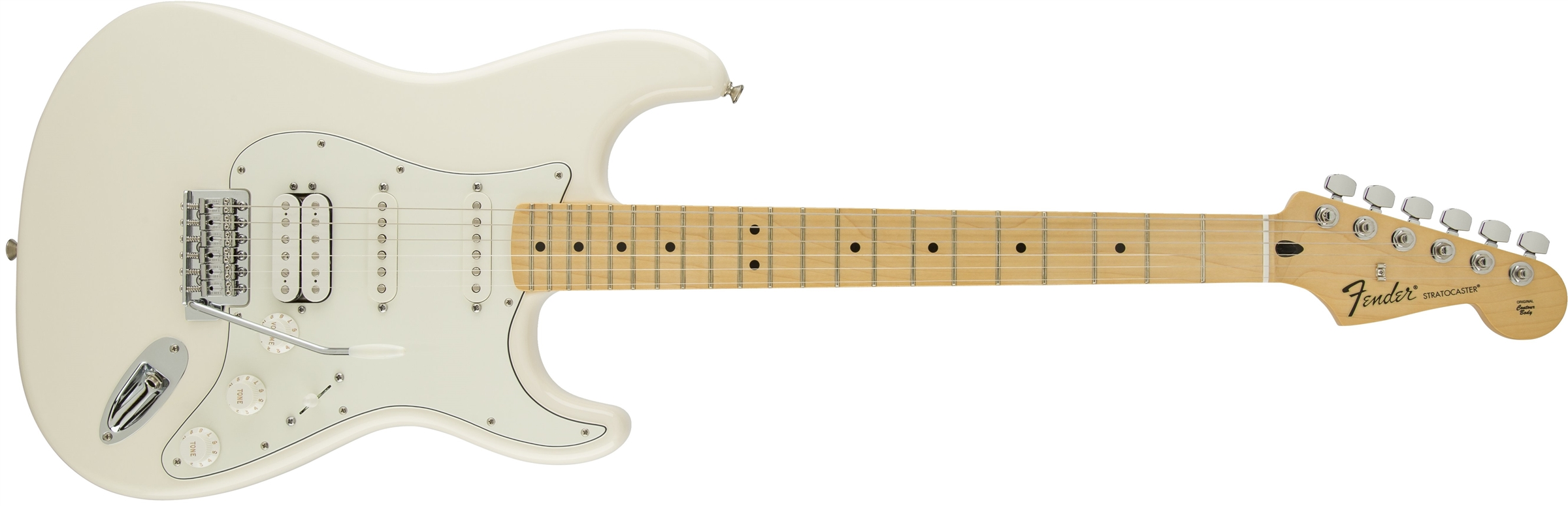 fender deluxe stratocaster electric guitar hss maple