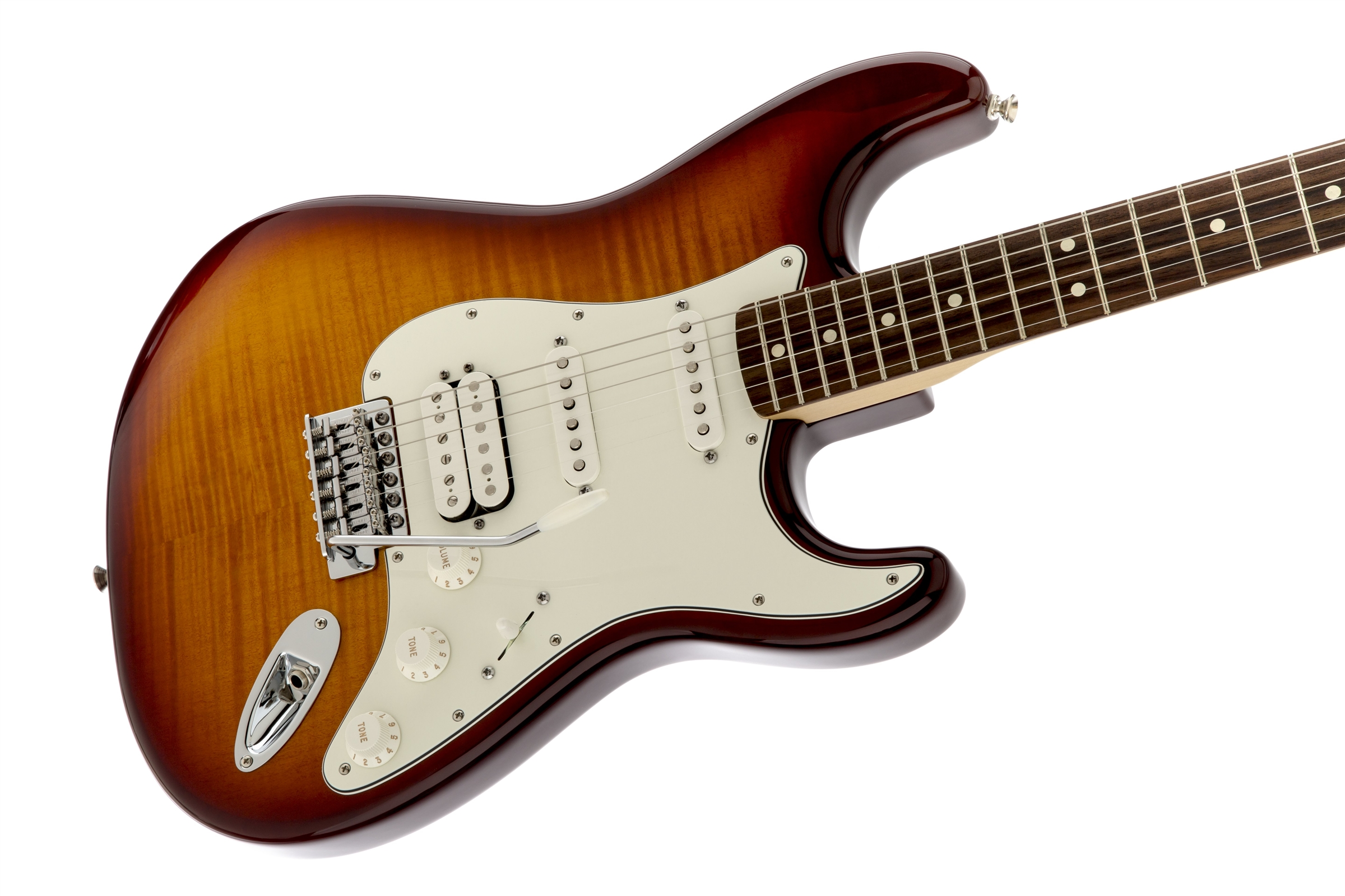 fender standard stratocaster hss plus top pau ferro fingerboard tobacco sunburst. Black Bedroom Furniture Sets. Home Design Ideas