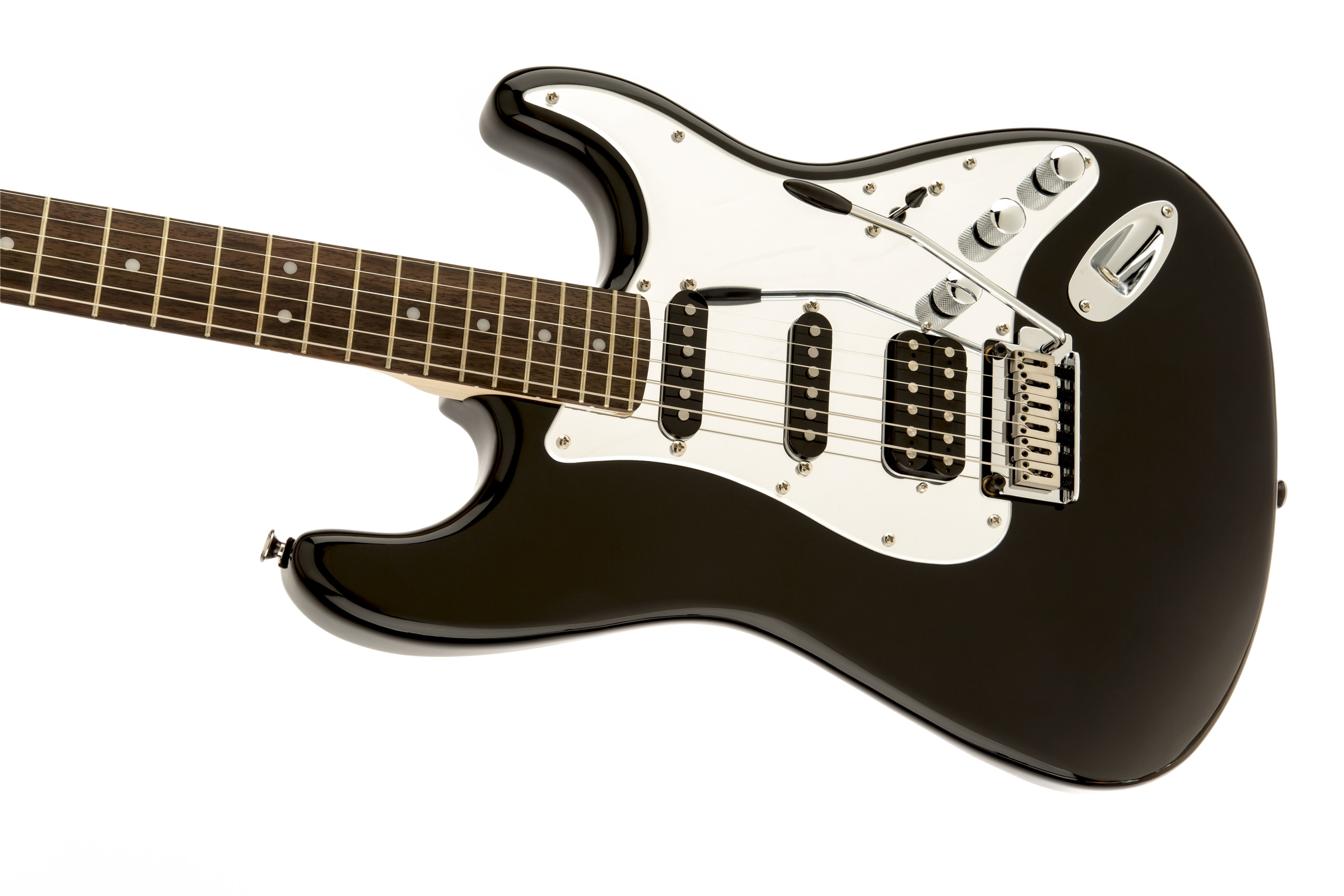 black and chrome standard stratocaster� hss