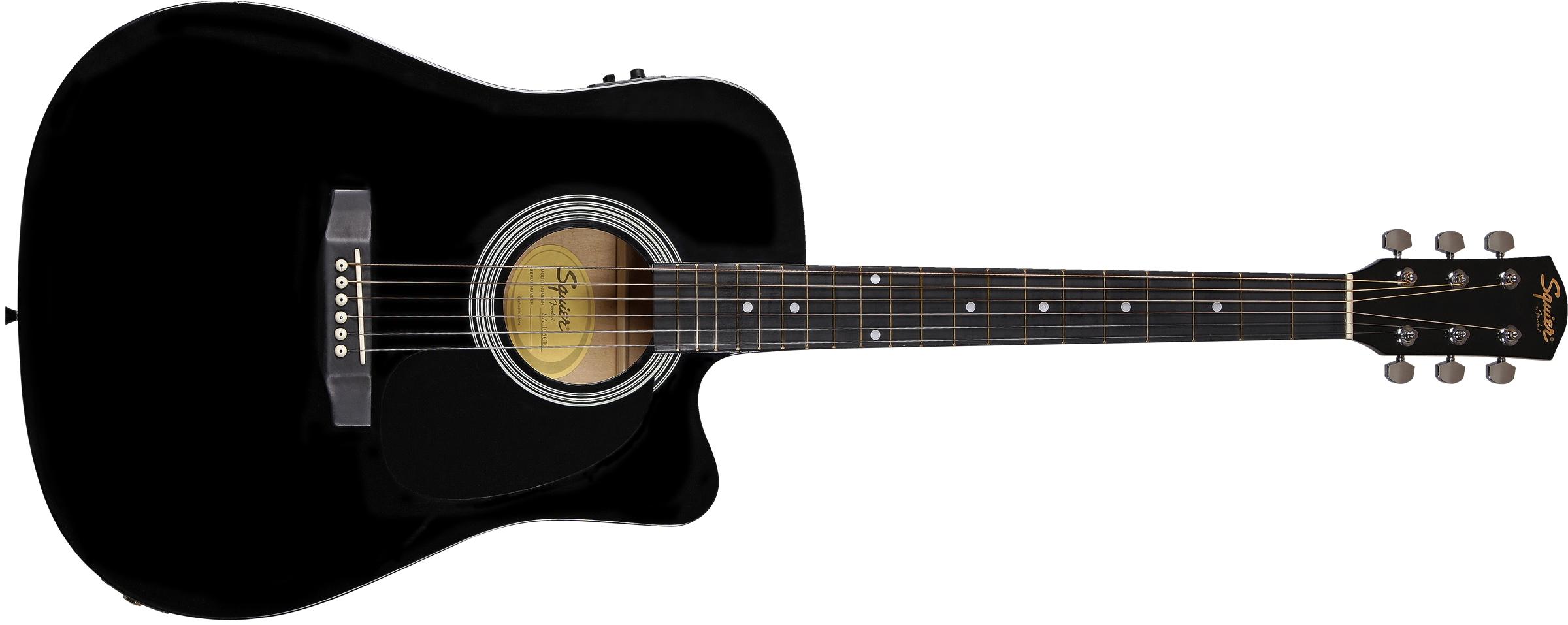 NEW Natural Fender SA-105CE Dreadnought Cutaway Electro Acoustic Guitar