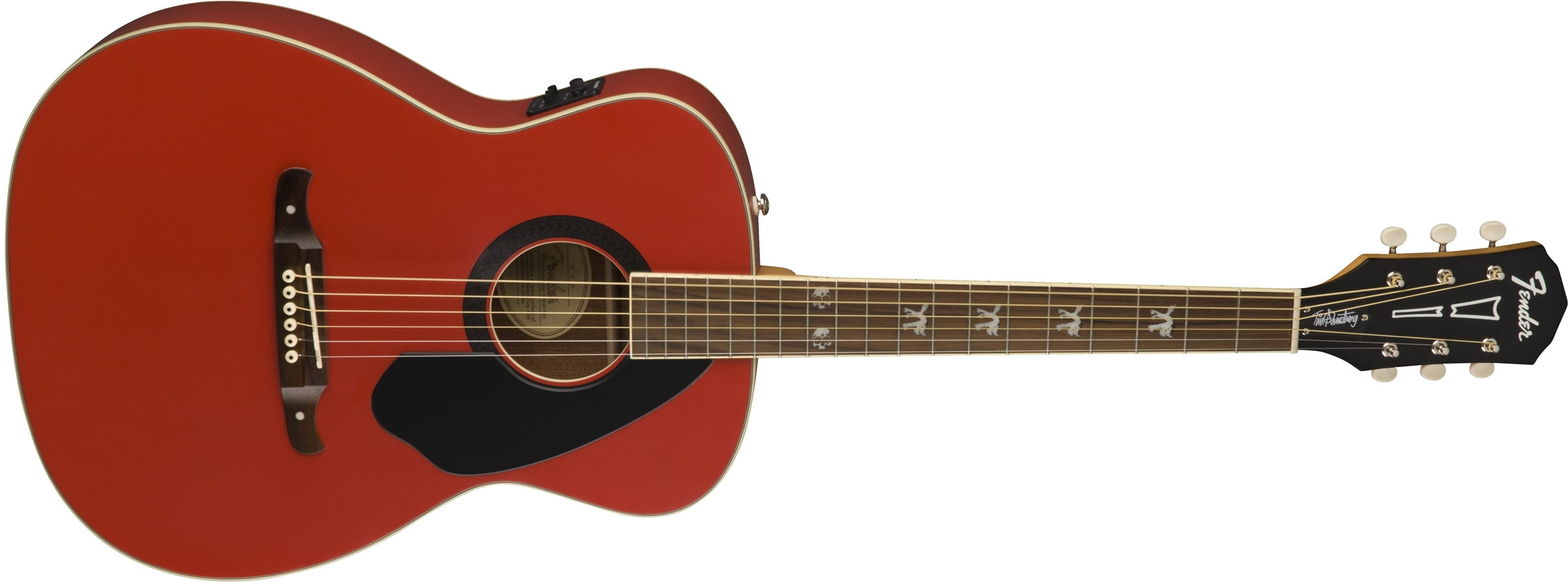 tim armstrong hellcat fsr ruby red acoustic guitars. Black Bedroom Furniture Sets. Home Design Ideas