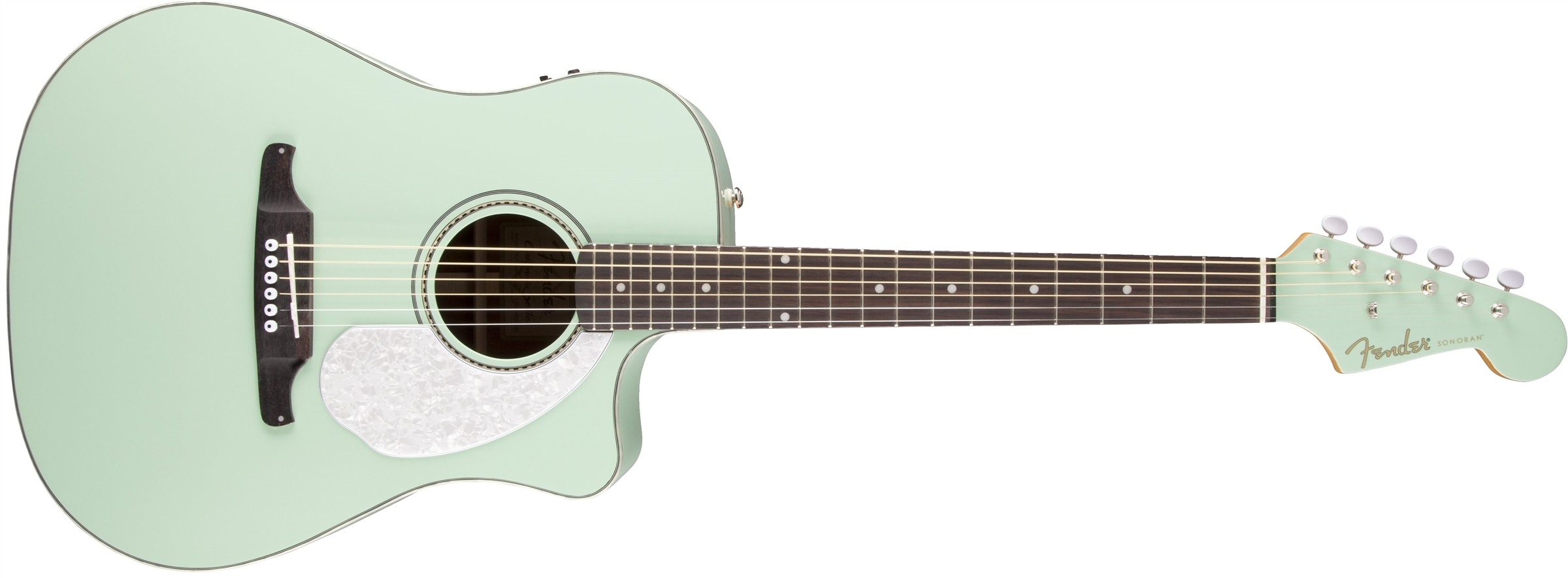 Fender SonoranTM SCE Surf Green With Matching Headstock