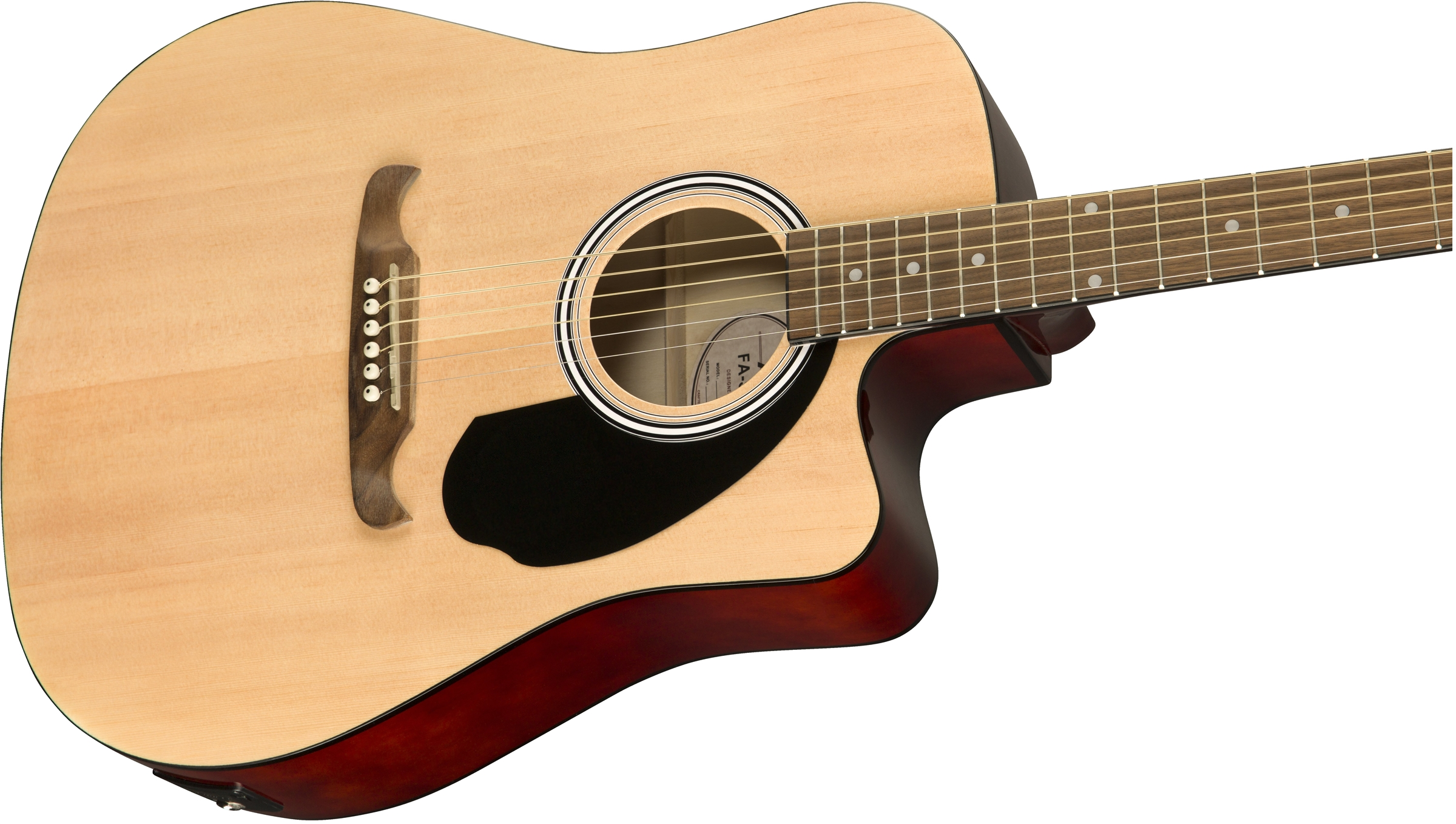 Fa 125ce Dreadnought Walnut Fingerboard Acoustic Guitars