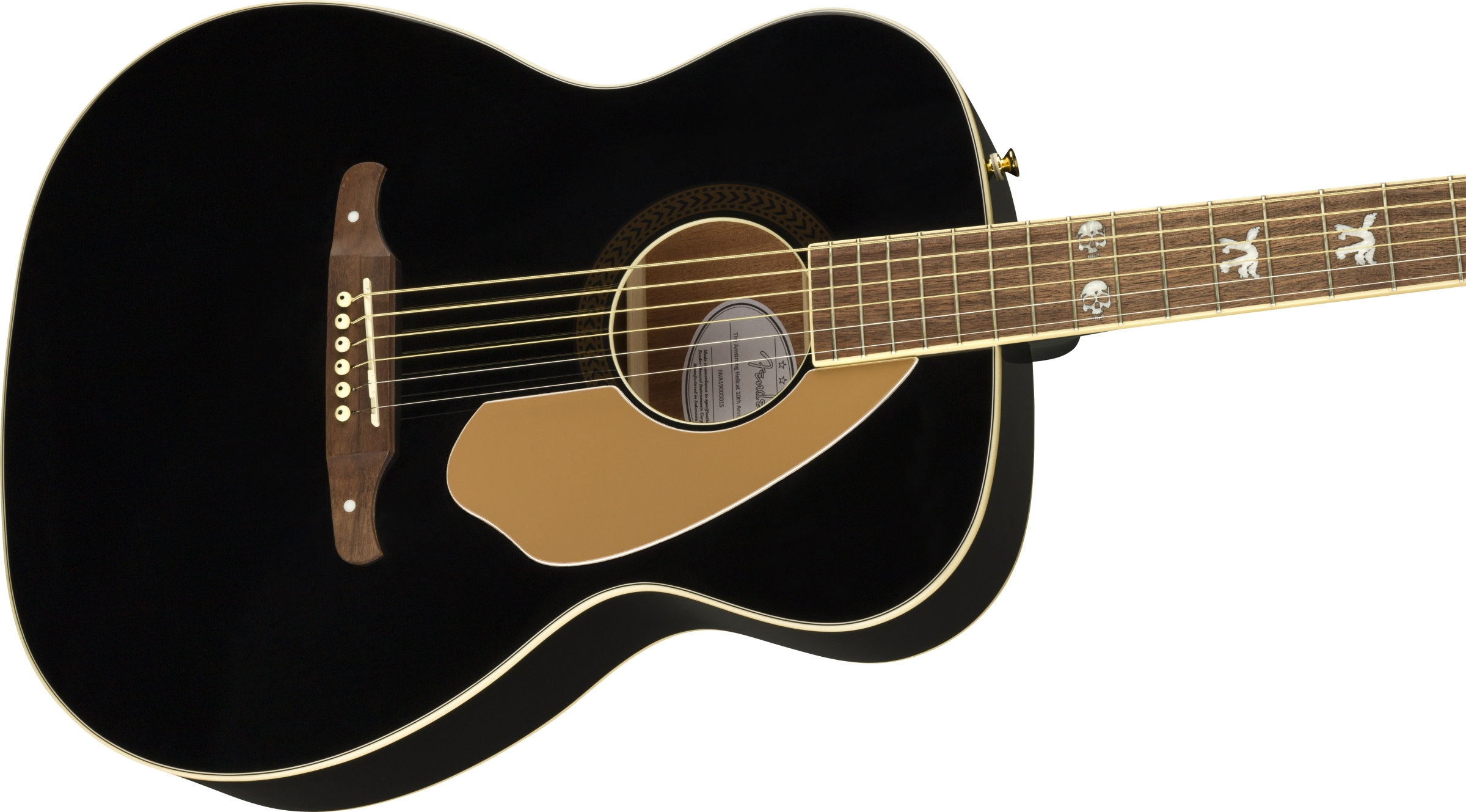 Fender Tim Armstrong 10th Anniversary Hellcat Black Walnut Fingerboard Acoustic Electric Guitar