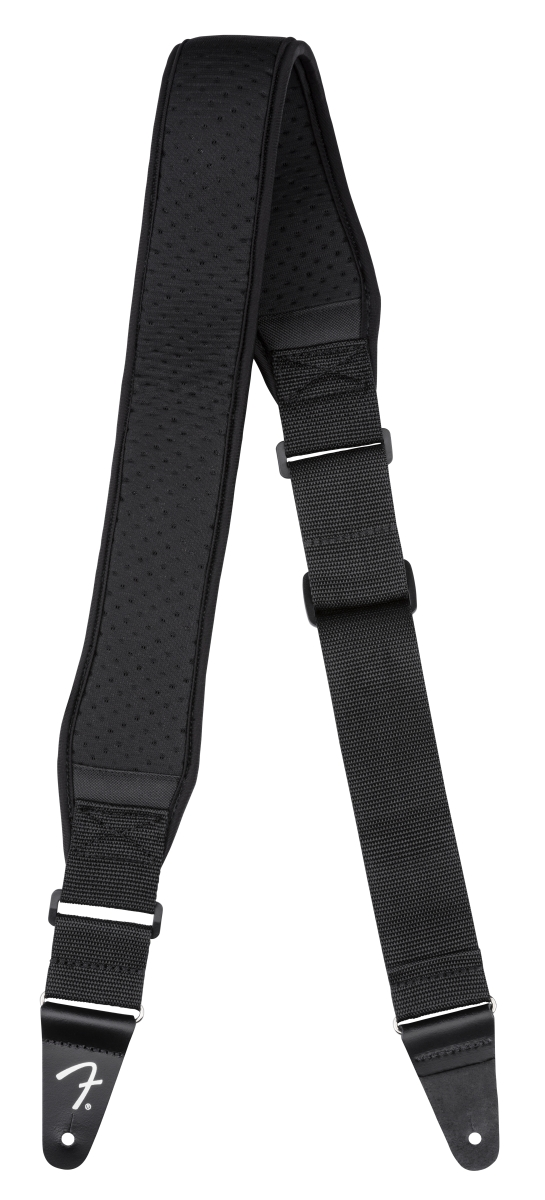 "Genuine Fender® Bassman Neoprene 2/"" Comfort Guitar//Bass Strap Black 099-0694-206"