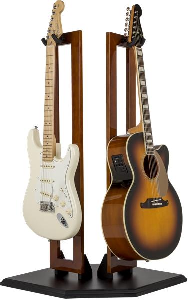 fender hanging wood double guitar stands accessories. Black Bedroom Furniture Sets. Home Design Ideas