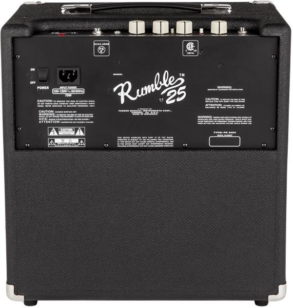 Fender RumbleTM 25 V3 120V Black Silver