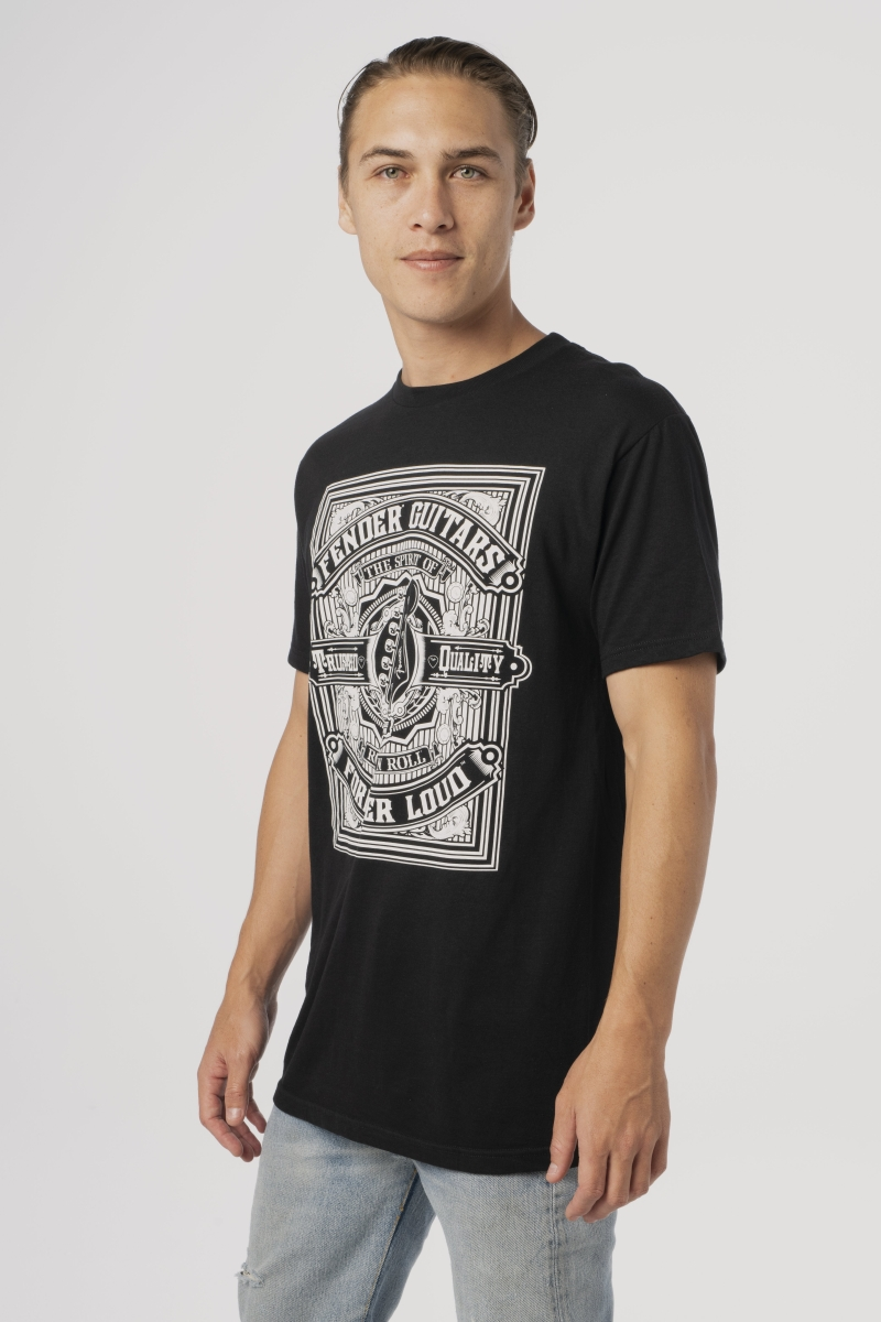 Fender Forever Loud Trusted Quality T-Shirt Black XL 9101310606