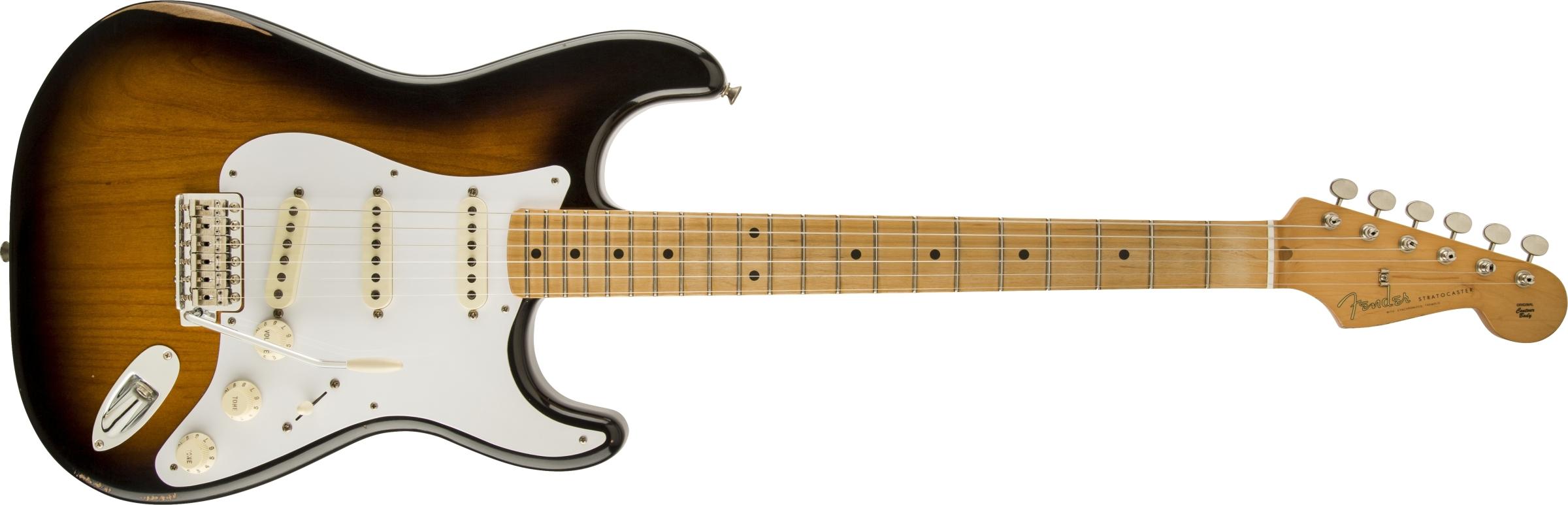 fender road worn 39 50s stratocaster maple fingerboard 2 color sunburst. Black Bedroom Furniture Sets. Home Design Ideas