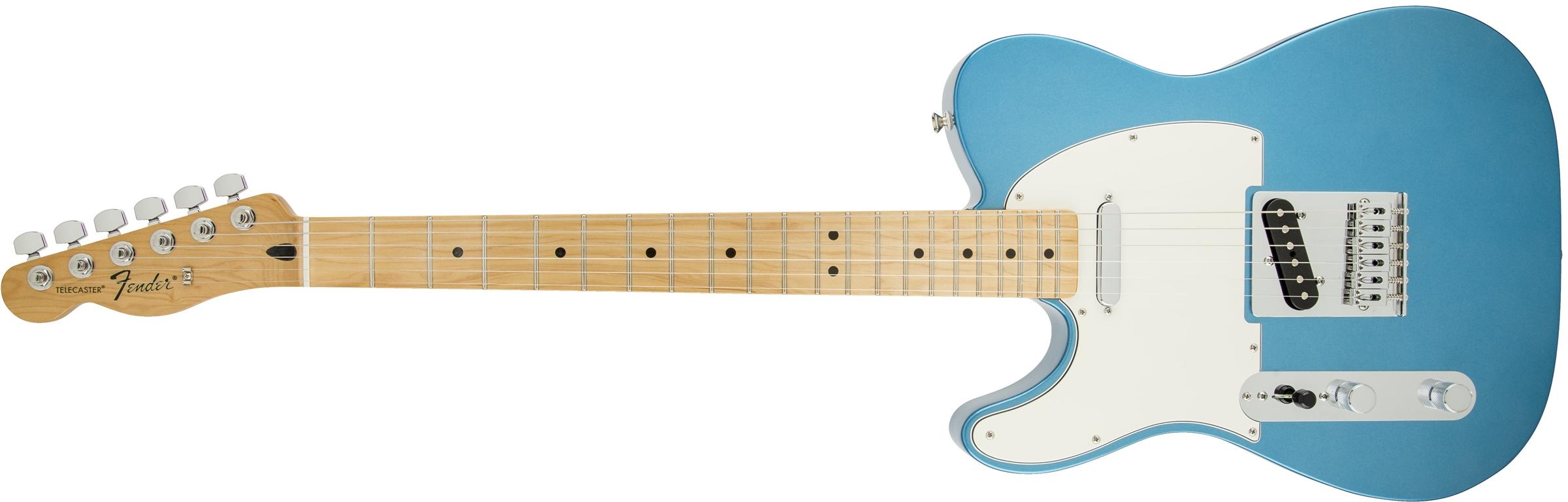 Fender standard telecaster left handed maple fingerboard lake standard telecaster left hand lake placid blue publicscrutiny Image collections