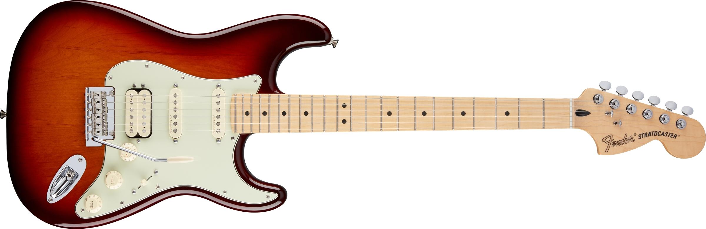 Fender Deluxe Stratocaster® HSS, Maple Fingerboard, Tobacco Sunburst