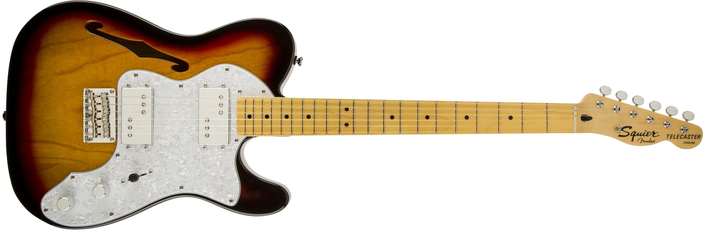 0301280500_gtr_frt_001_rr squier� vintage modified '72 tele thinline, maple fingerboard, 3 Thinline Tele Body at crackthecode.co