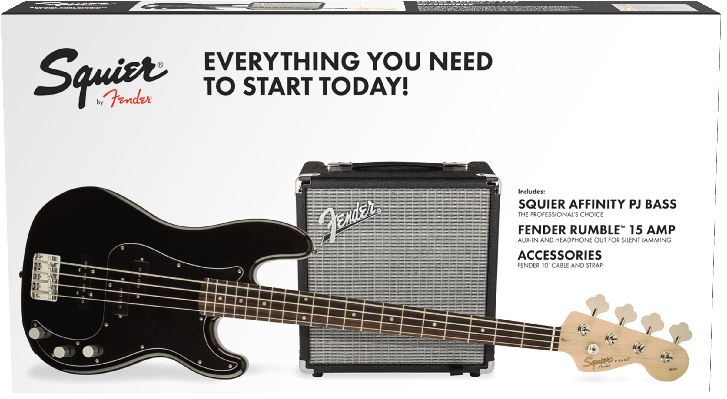 Squier Affinity Series™ Precision Bass® PJ Pack