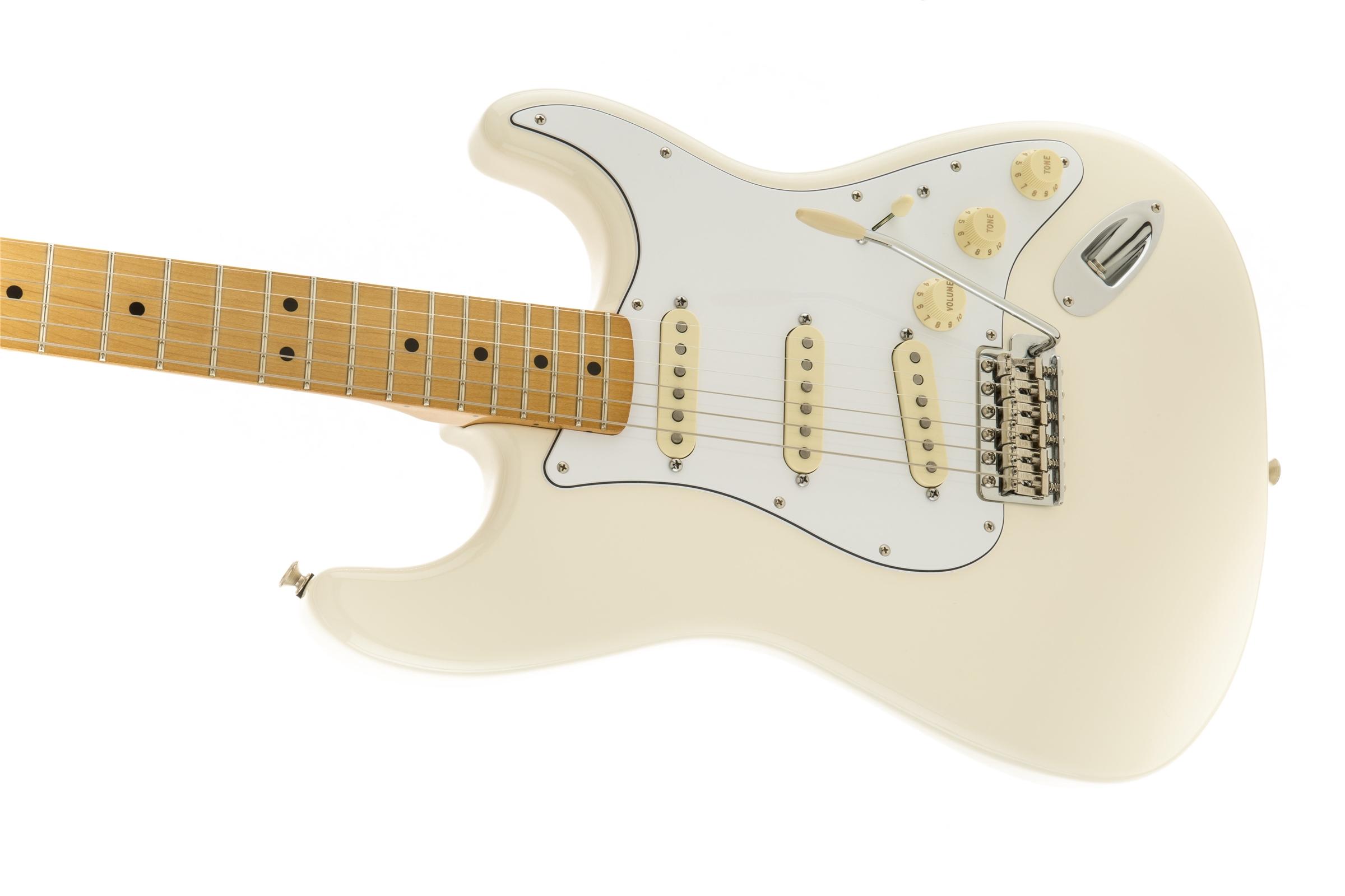 Fender Jimi Hendrix Stratocaster®, Maple Fingerboard, Olympic White