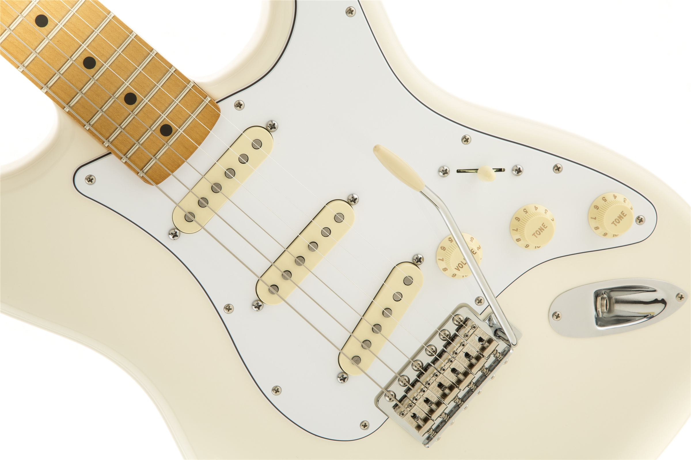 Fender Jimi Hendrix Stratocaster®, Maple Fingerboard, Olympic White
