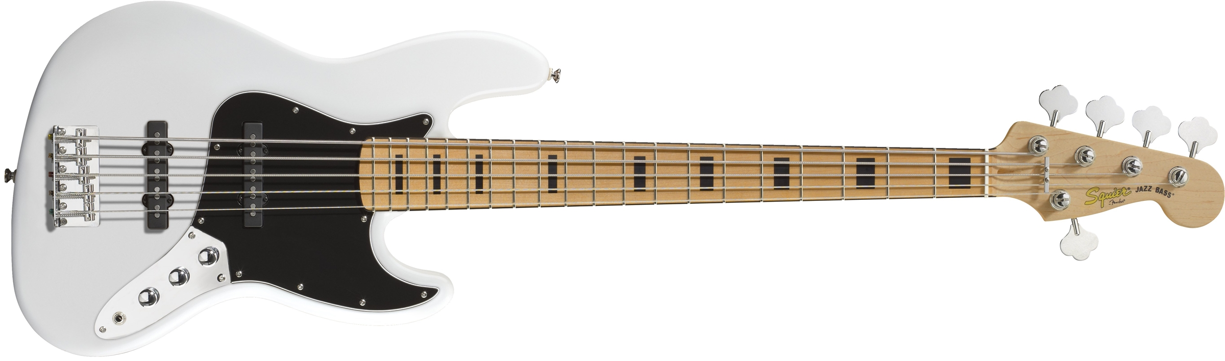 squier vintage modified jazz bass v maple fingerboard olympic white squier bass guitars. Black Bedroom Furniture Sets. Home Design Ideas
