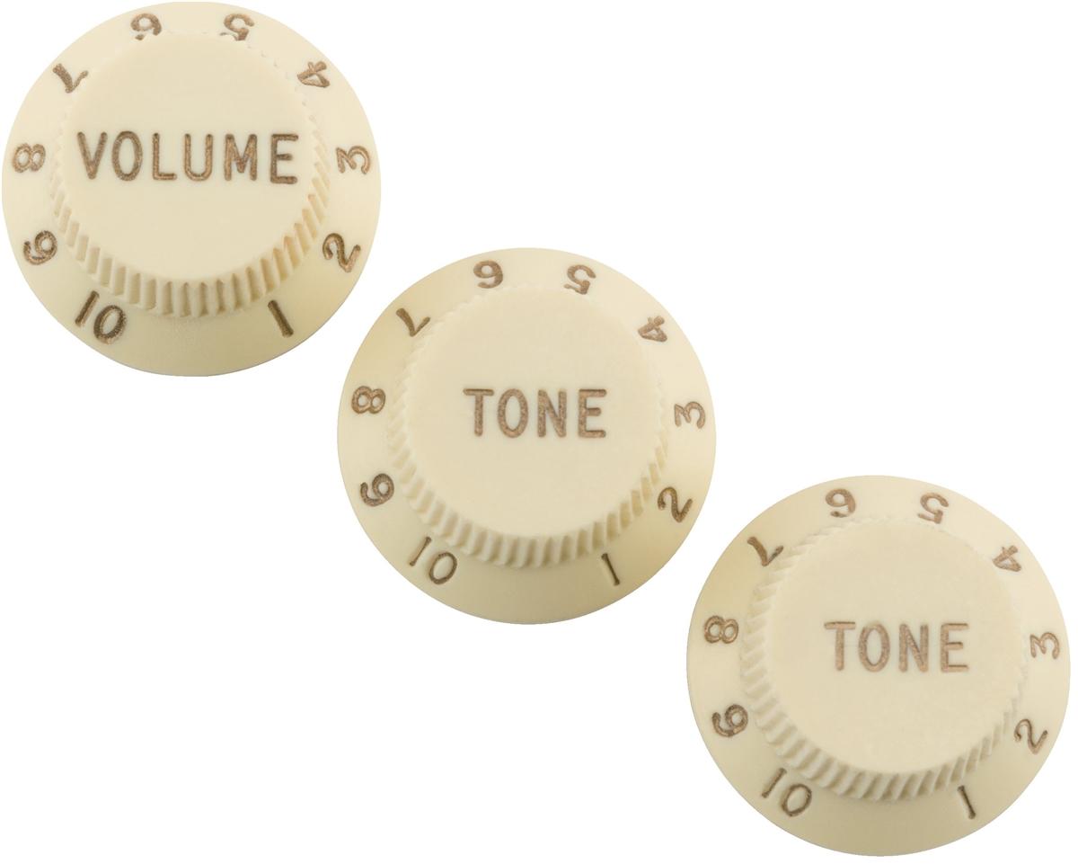 Fender Road Worn Aged Strat Knobs Aged White 0997209000 3