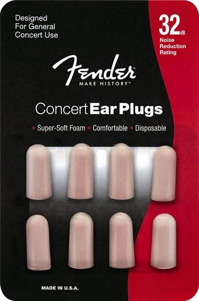 Set Of 4 Pair Fender Concert Series Foam Ear Plugs