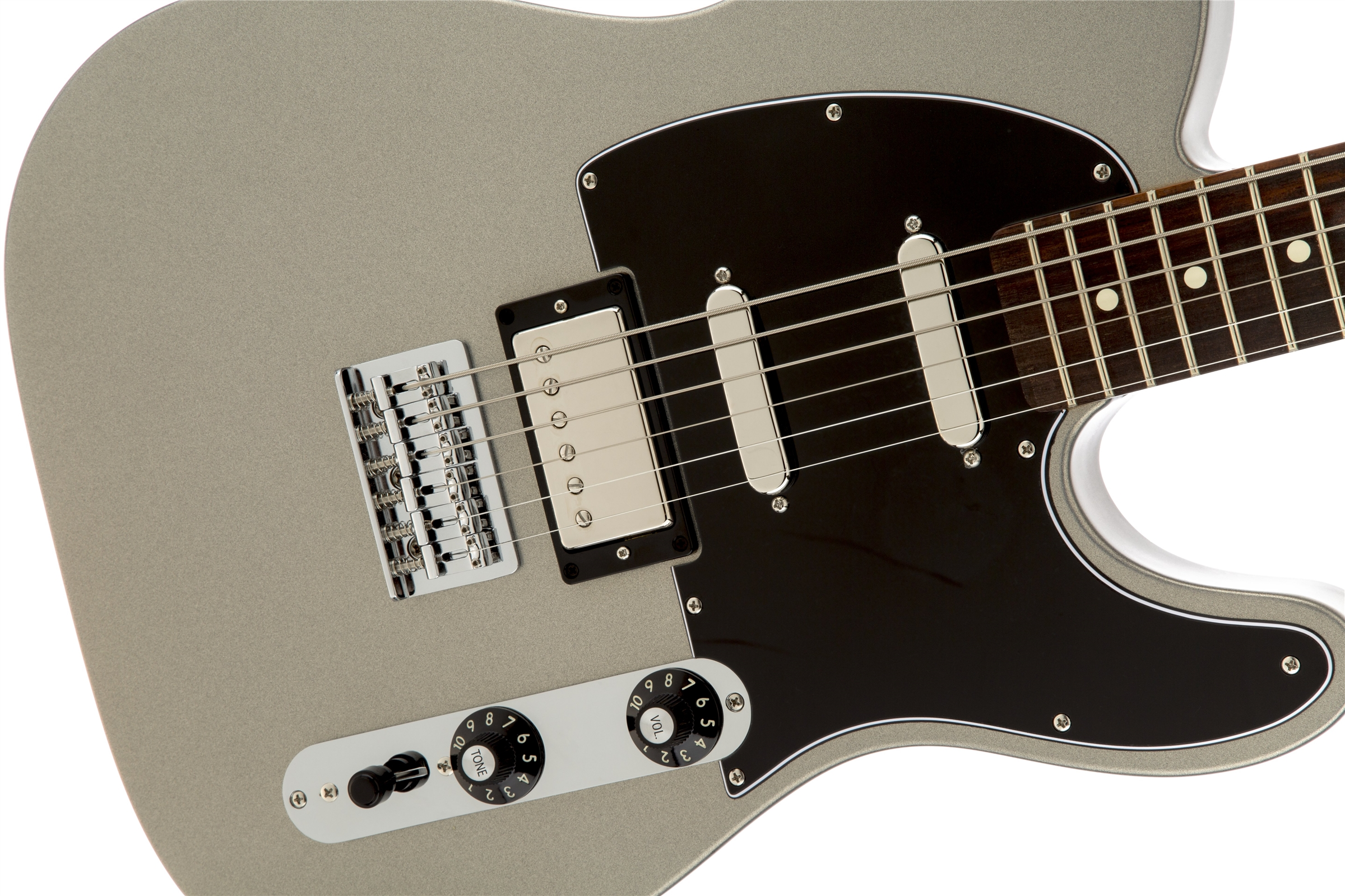 0148700581_gtr_frtbdydtl_001_nr blacktop™ telecaster� baritone, rosewood fingerboard, ghost silver fender blacktop telecaster wiring diagram at gsmportal.co
