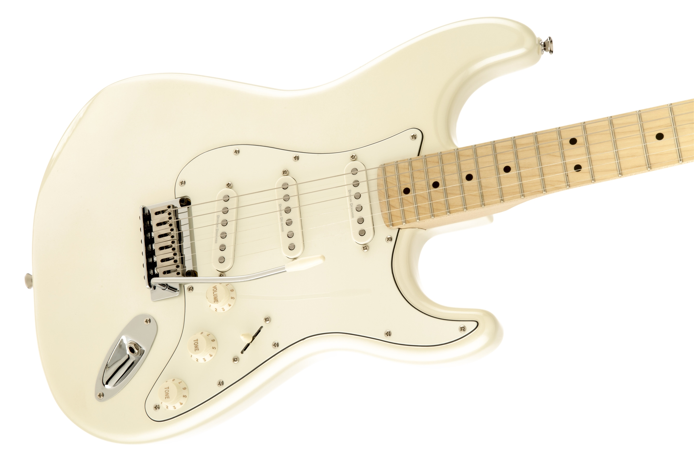 deluxe stratocaster maple fingerboard pearl white metallic squier electric guitars. Black Bedroom Furniture Sets. Home Design Ideas