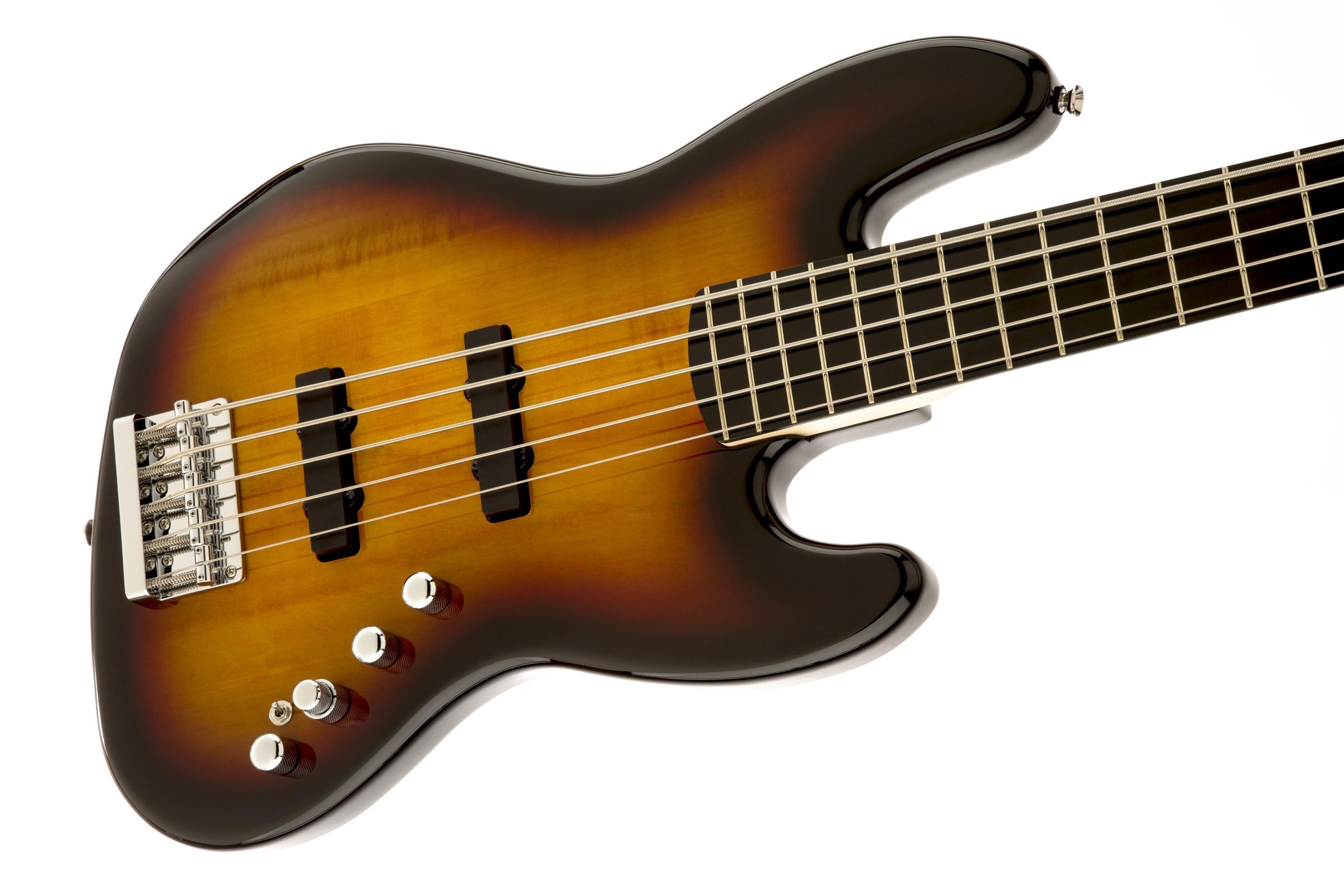squier u00ae deluxe jazz bass u00ae v active  5 string   ebonol