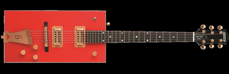 "Solid Body :: G6138 Bo Diddley, ""G"" Cutout Tailpiece, Ebony Fingerboard,  Firebird Red"