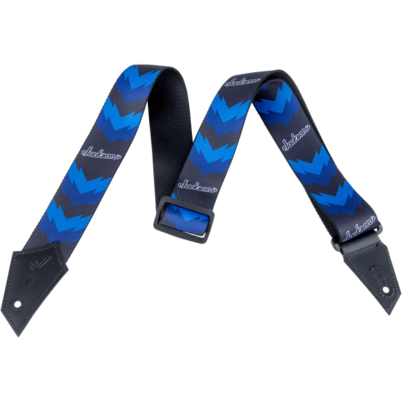 Jackson® Strap with Double V Pattern - Black and Blue