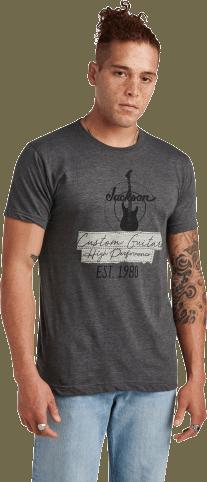 Jackson® Custom Guitar T-Shirt - Charcoal