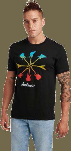 Jackson® Guitar Shapes T-Shirt - Black
