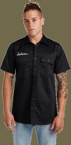 Jackson® Logo Men's Work Shirt - Black