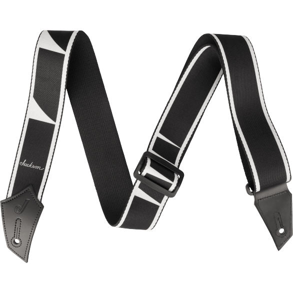 Jackson® Strap with Headstock Pattern - Black and Blue