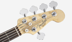 "Fender ""F"" Vintage-Style Tuners with ""Paddle"" Keys and Tapered Posts"