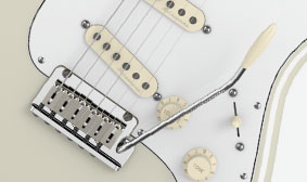 Two-Point Tremolo with Stainless Steel Block Saddles