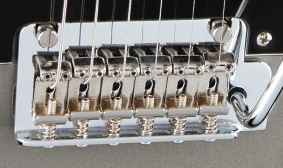 TWO-POINT TREMOLO BRIDGE WITH VINTAGE-STYLE SADDLES