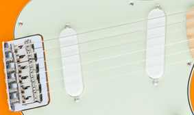 DUO-SONIC SINGLE-COIL PICKUPS
