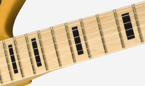 MAPLE NECK WITH BLOCK INLAYS