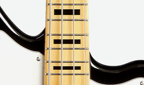 Modern Neck with Jumbo Frets and Block Inlays