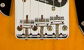 VINTAGE-STYLE STRINGS-THRU-BODY BRIDGE