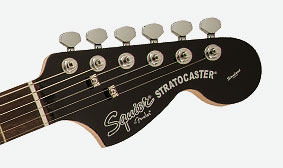 GLOSS BLACK FINISH WITH MATCHING HEADSTOCK