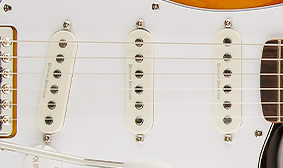 THREE DUNCAN DESIGNED™ SC-101 SINGLE-COIL PICKUPS WITH AGED WHITE COVERS