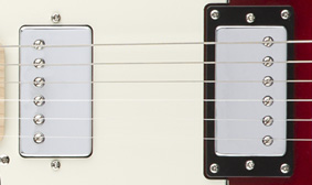 Chrome-Covered Ceramic Humbucking Pickups