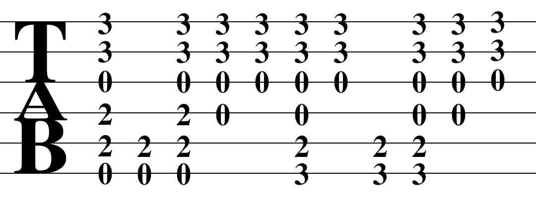 読み方 ギター 楽譜
