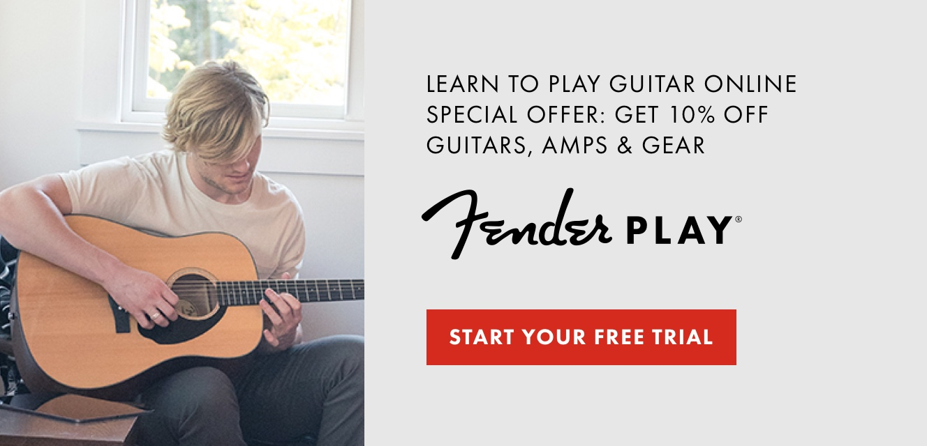 Click here for a free trial to Fender Play, our online learning platform