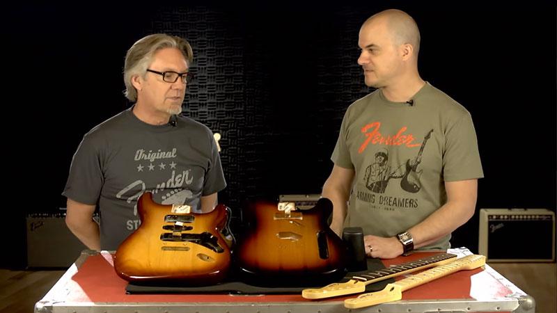 Stratocaster 174 Body Vintage Bridge 3 Color Sunburst